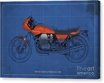 Moto Guzzi Le Mans IIi 1981 Vintage Style Canvas Print