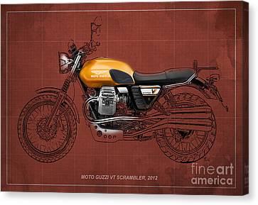 Moto Guzzi V7 Scrambler 2012 Original Style Canvas Print by Pablo Franchi