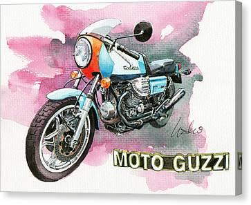 Moto Guzzi Canvas Print by Yoshiharu Miyakawa
