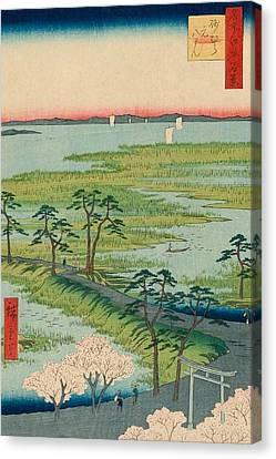 Moto-hachiman Shrine Canvas Print by Utagawa Hiroshige