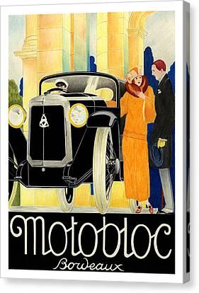 Motobloc Canvas Print by Lyle Brown