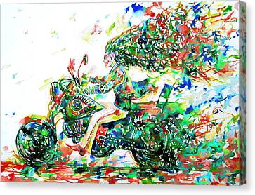 Motor Demon Running Fast Canvas Print by Fabrizio Cassetta