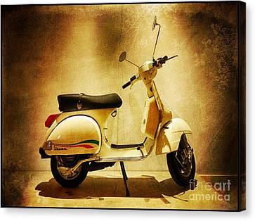 Motor Scooter Vespa Canvas Print by Stefano Senise