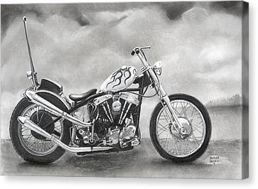 Motorcycle Canvas Print by Heather Gessell