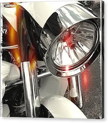 #motorcycle #motorcycles Canvas Print by Mike Maher