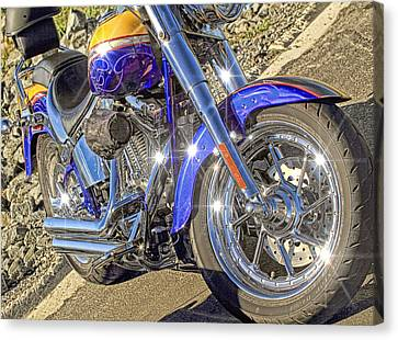 Motorcycle Without Blue Frame Canvas Print by Geraldine Scull