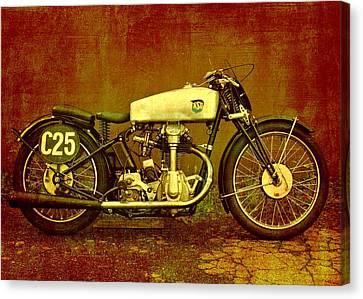 Motorcycles Nsu Bullus Ssr 350 Canvas Print by Gabi Siebenhuehner
