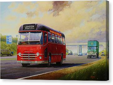 Motorway Express 1959. Canvas Print by Mike  Jeffries