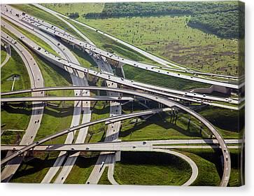 Motorway Junction Canvas Print by Jim West