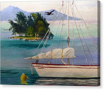 Motu Of Raeitea Canvas Print