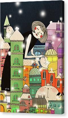 Mouldy City Canvas Print by Yoyo Zhao