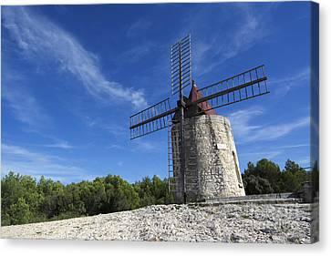 Moulin De Daudet.windmill Of Alphonse Daudet. Provence. France Canvas Print by Bernard Jaubert