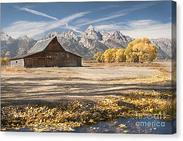 Moulton Barn Autumn Canvas Print