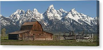 Abandoned Canvas Print - Moulton Barn - Grand Tetons I by Sandra Bronstein