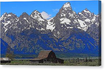 Moulton Barn In Grand Teton National Park Canvas Print by Dan Sproul