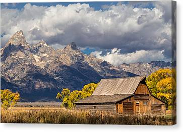 Kathleen Canvas Print - Moulton Barn In The Tetons by Kathleen Bishop