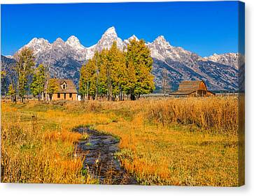 Canvas Print featuring the photograph Moulton Homestead by Greg Norrell