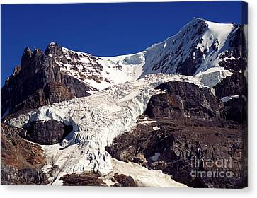 Mount Andromeda Up Close Canvas Print by Terry Elniski