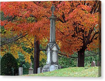 Rest In Peace Canvas Print - Mount Auburn Cemetery by Juergen Roth