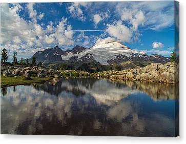 Mount Baker Cloudscape Canvas Print by Mike Reid