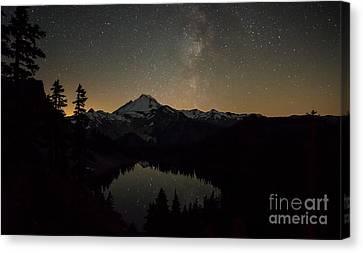 Mount Baker Milky Way Canvas Print by Mike Reid