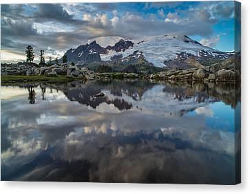 Mount Baker Reflection Cloudscape Canvas Print by Mike Reid
