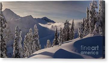 Mount Baker Snowscape Canvas Print by Mike Reid