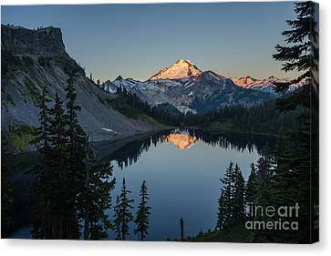 Mount Baker Sunrise Reflection Serenity Canvas Print by Mike Reid