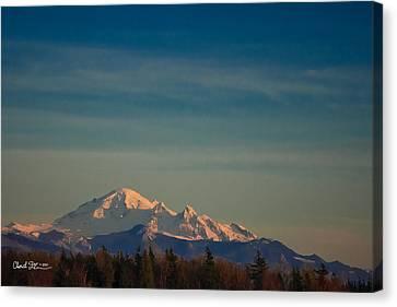 Mount Baker Sunset Canvas Print by Charlie Duncan