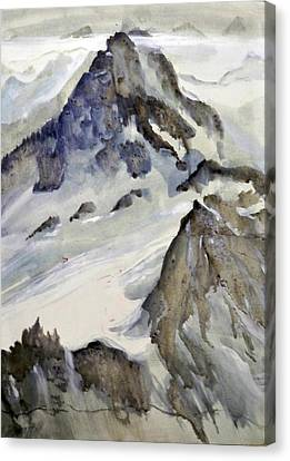 Mount Blanc Canvas Print by Ed  Heaton