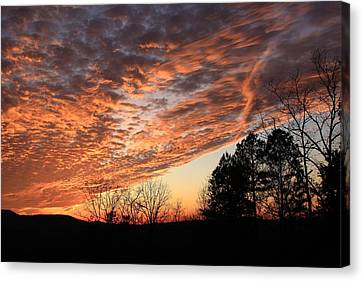 Mount Cheaha Sunset-alabama Canvas Print by Mountains to the Sea Photo