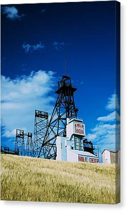 Mount Con Mine 2 Butte Mt Canvas Print by Kevin Bone