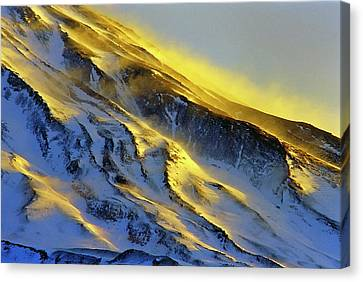 Mount Damavand At Dawn Canvas Print by Babak Tafreshi