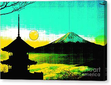 Mountain View Canvas Print - Mount Fiji by Celestial Images