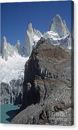 Canvas Print featuring the photograph Mount Fitzroy Patagonia by Rudi Prott