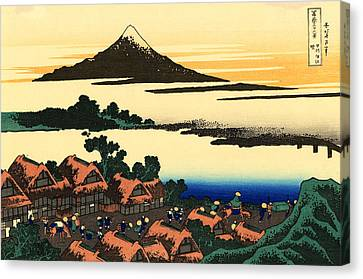 Mount Fuji And The Village Canvas Print by Mountain Dreams