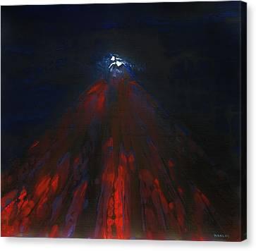 Mount Fuji By Night 2003 Canvas Print