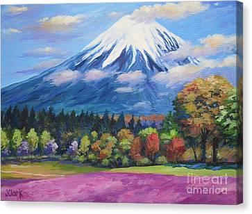 Mount Fuji Shibazakura Canvas Print by John Clark