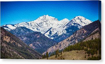 Mount Gardner Close Up Canvas Print by Omaste Witkowski