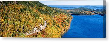 Mount Jordan Pond, Acadia National Canvas Print by Panoramic Images