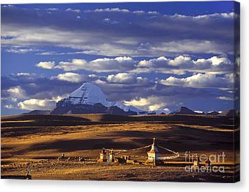 Mount Kailash And Chiu Gompa - Tibet Canvas Print
