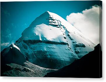 Mount Kailash Home Of The Lord Shiva Canvas Print by Raimond Klavins
