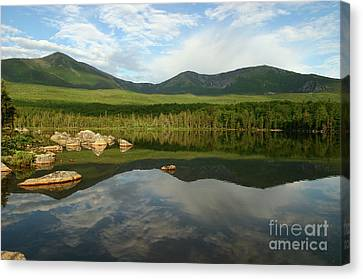 Canvas Print featuring the photograph Mount Katahdin by Jeannette Hunt
