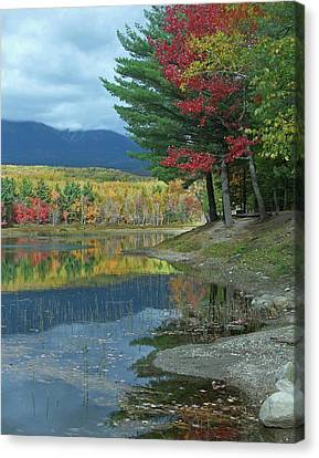 Maine Mountains Canvas Print - Mount Katahdin Over Abel Creek, Baxter by Tim Fitzharris