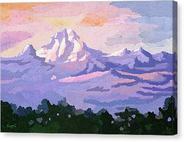 Mount Kenya At Dawn Canvas Print