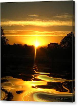 Mount Lassen Sunrise Gold Canvas Print