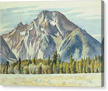 Mount Moran Canvas Print by Edward Hopper