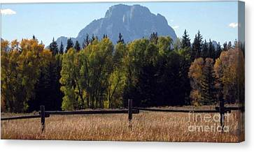 Canvas Print featuring the photograph Mount Moran by Janice Westerberg