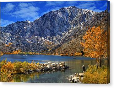 Mount Morrison Overlooking Convict Lake Canvas Print by Donna Kennedy