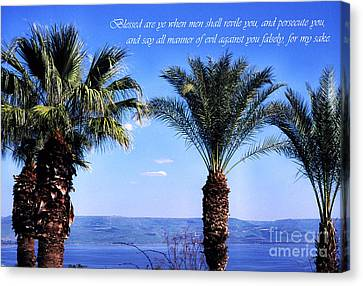 Mount Of The Beatitudes Canvas Print by Thomas R Fletcher